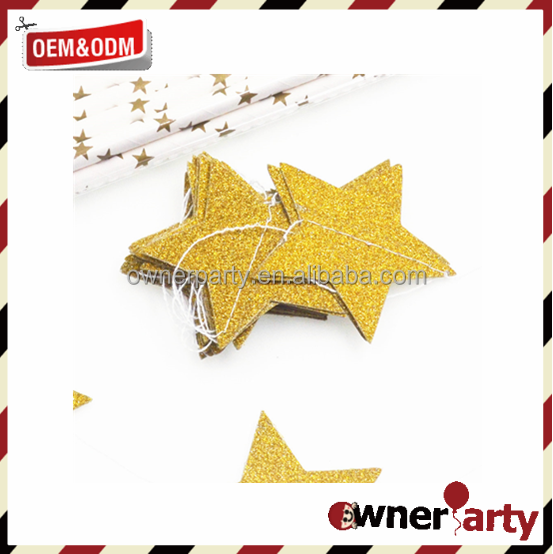 New Style Paper Garland Baby Shower Party Decoration Paper Star Garland