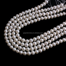 Natural bright fresh water pearl round shape white freshwater pearls