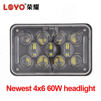 High brightness 4x6 led headlight for motorcycle square 5 inch auxiliary lamp