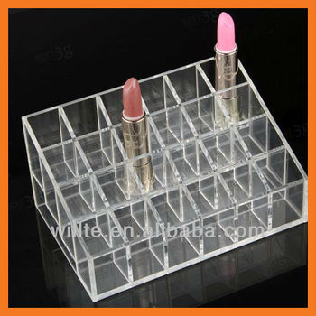 24 Multi-function acrylic lip gloss display organizer