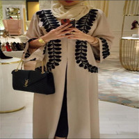 Abaya maxi islamic clothing with long sleeves hot sale new design open abaya kaftan attractive jilbab burqa wholesale
