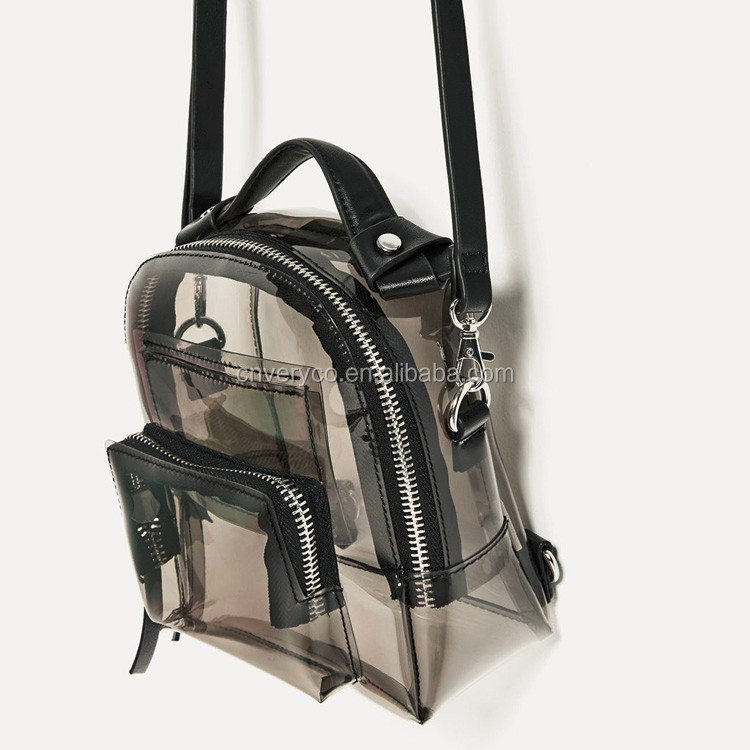 Fashion Transparent Clear PVC Backpack for Lady
