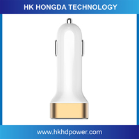 Universal 2 ports mobile phone and laptop 5V USB car charger