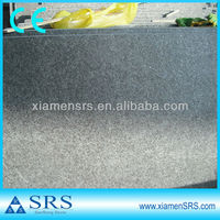 Flamed G684 black basalt slab