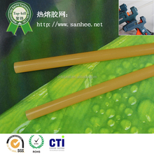 glue for plastic sticks for fruit carton packing 11mm hot melt glue stick , hot melt glue for book binding