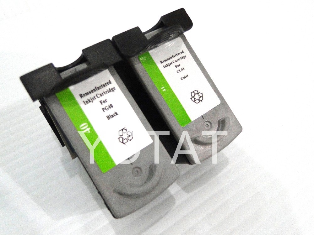 compatible for Canon inkjet cartridge PG-40 CL-41 for Canon PIXMA iP1180 iP1880 iP1980 iP2580 iP2680