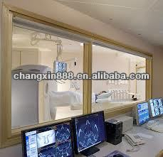 Hot selling x ray radiation protection lead glass