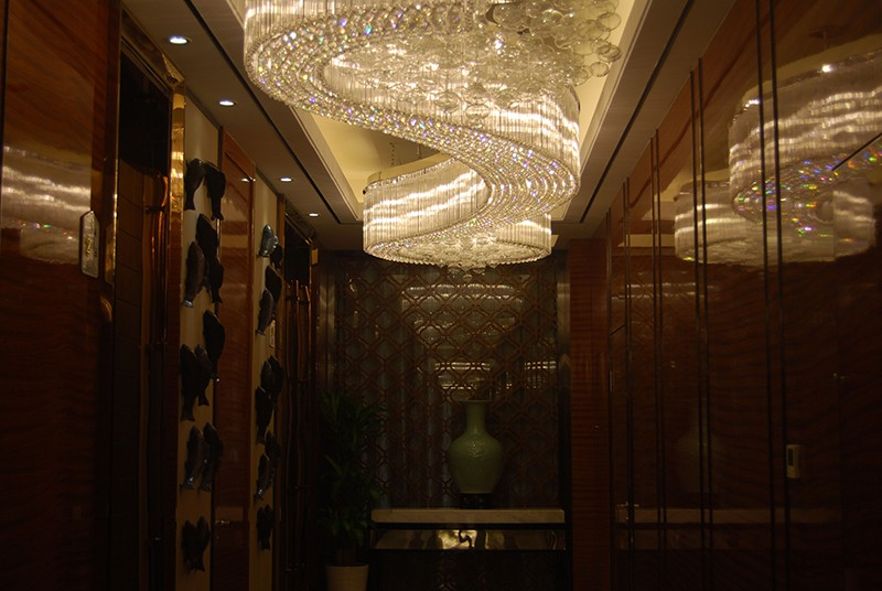 Modern Large crystal chandelier for hotel lobby and corridor