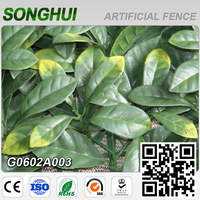 Songhui green pvc outdoor artificial plant hedges for home decoration