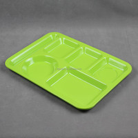 Green compartment melamine plate
