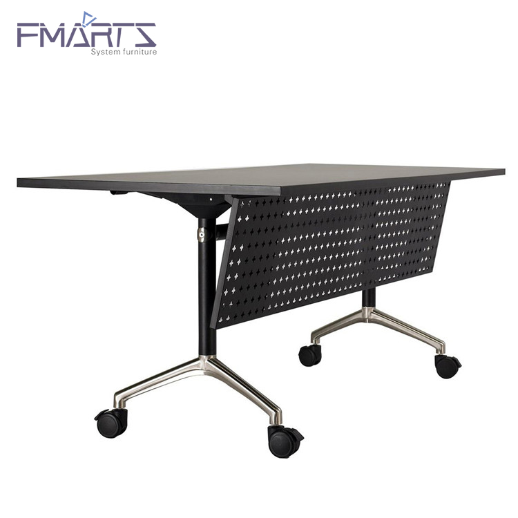 Furniture Melamine Office Flip Top Training Conference Folding Table