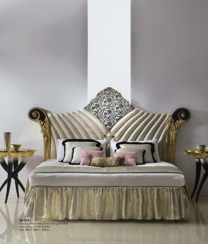 WH08-luxury furniture of italian classic bedroom furniture