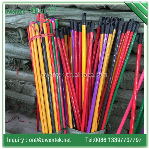 Plastic coated broom stick wooden for dust pan from guangxi broom manufacture