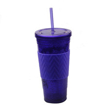 Popular Good Quality Freeze Plastic Tumbler With Straw