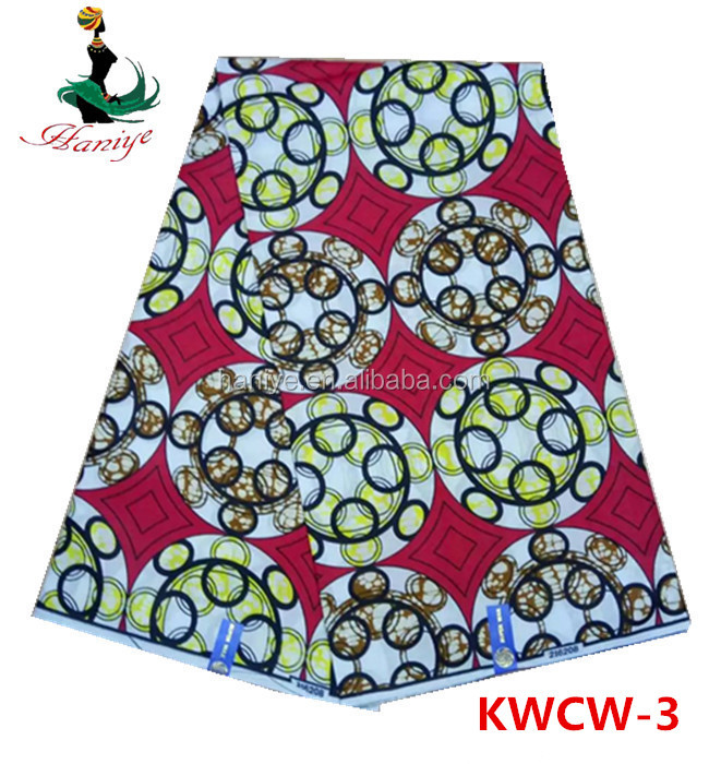Haniye KWCW03 African Ankara hollandaise style wax printed 100% cotton fabric for lady dress and handbag