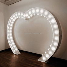 heart shape lighting wedding arch metal arch for wedding decoration