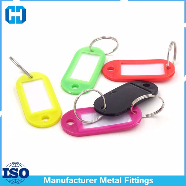 Crystal Plastic Key Tags Ring Keyring Keychain From Factory