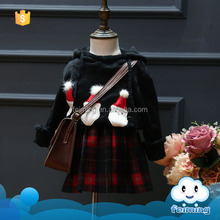 Feiming factory cheap winter girls names unique pictures clothes christmas boutique outfits kids cute santa pattern suit girls