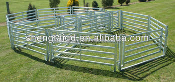 Heavy Duty Galvanized Steel Wire Horse Paddock Stable Stall Round Yard Panels