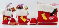2015 HOT!HOT!HOT! 3 sizes available Cute red santa christmas gift boots ideal for promotion