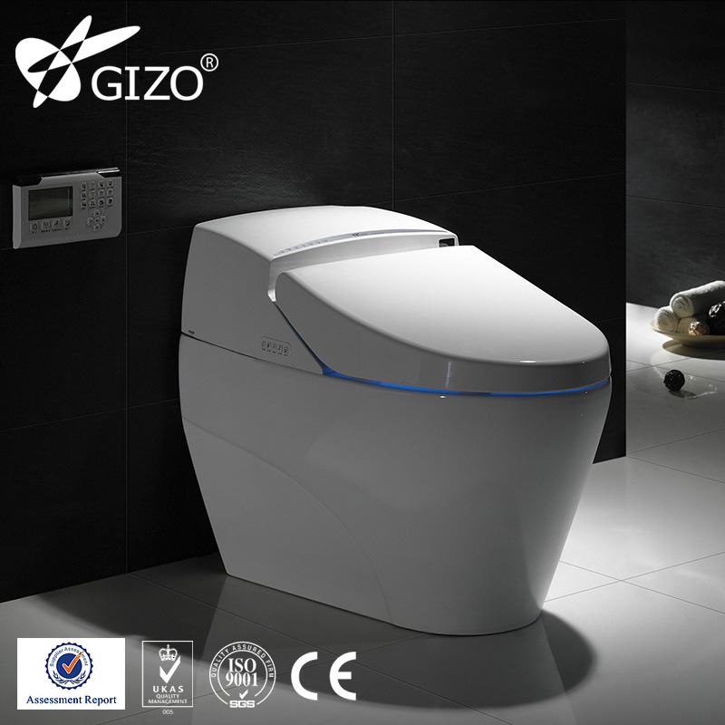 Good quality bathroom ceramic intelligent smart toilets,one piece siphonic toilet