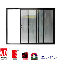 Shanghai Superhouse ten years experience supply AS2047 standard aluminum frame glass double entry door