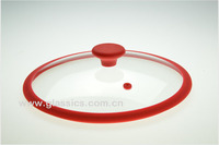 Silicone lid with knob for cookware