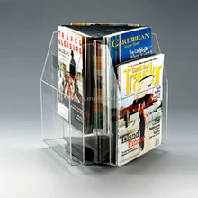 Custom desktop clear acrylic brochure magazine holder