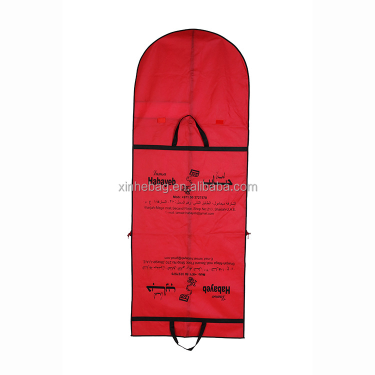 eco friendly long wedding dress garment bag wholesale