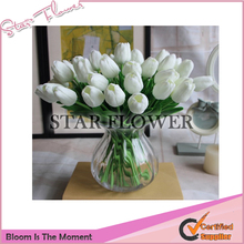 2017 New Product SF2017029 34cm mini pu real touch artificial flower tulips flower artificial