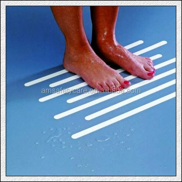 Solvent Adhesive Anti Slip Shower Strips For Barefoot