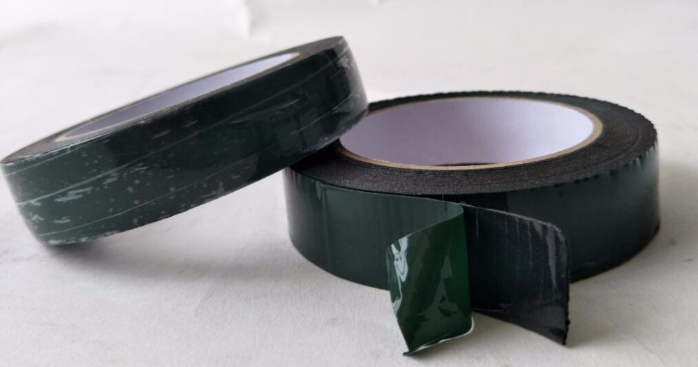 1mm black foam tape with red/green film double side