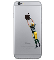 Transparent quality TPU soccer player design phone case cover for Samsung S3 S4 S5 and iphone 4 5 6 6s 6plus CO-TPU- 4026