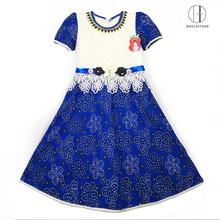 8100 Blue Fashion Flower Girl Dress African frocks designs flower girl party gown children dress