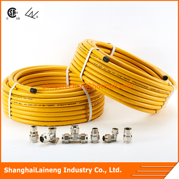 pliable stainless steel corrugated gas hose