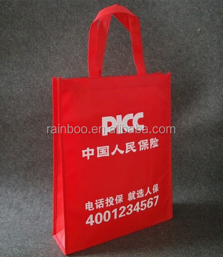 Promotional cheap folding shopping No woven bag with logo printed