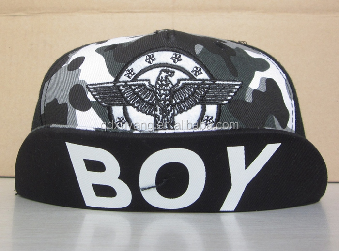 high quality boy london fashion camo military special visor snapback hats