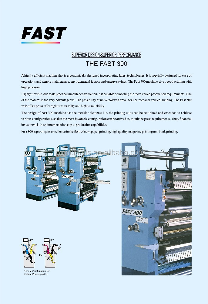 FAST-200 Y TYPE PRINTING MACHINE FOR BOOK PRINTING