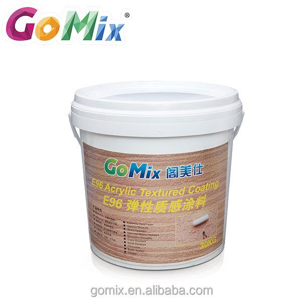 Superior flexibility crack resistant high solids external wall texture acrylic paint