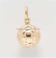 Wholesale china factory 3 dimensional soccer ball charm