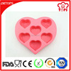 Soft heart shape silicone soap molds, soap making molds