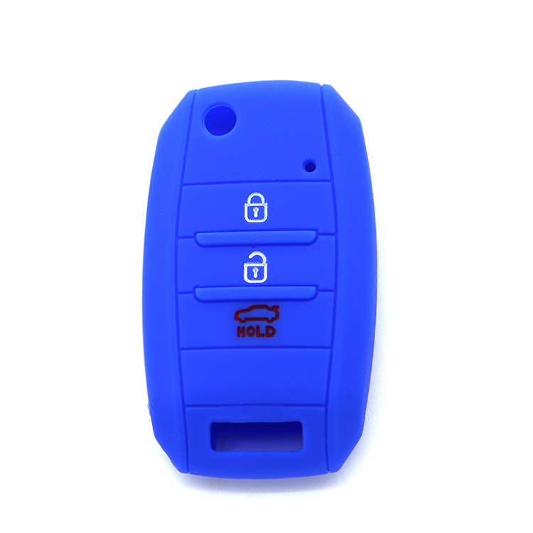 Silicone Cover Holder Shell for KIA K5 Flip Remote Key Case 3 Button