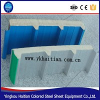 Used cold room exterior wall Heat insulation polyurethane decorative exterior wall sandwich panel/ roof panel