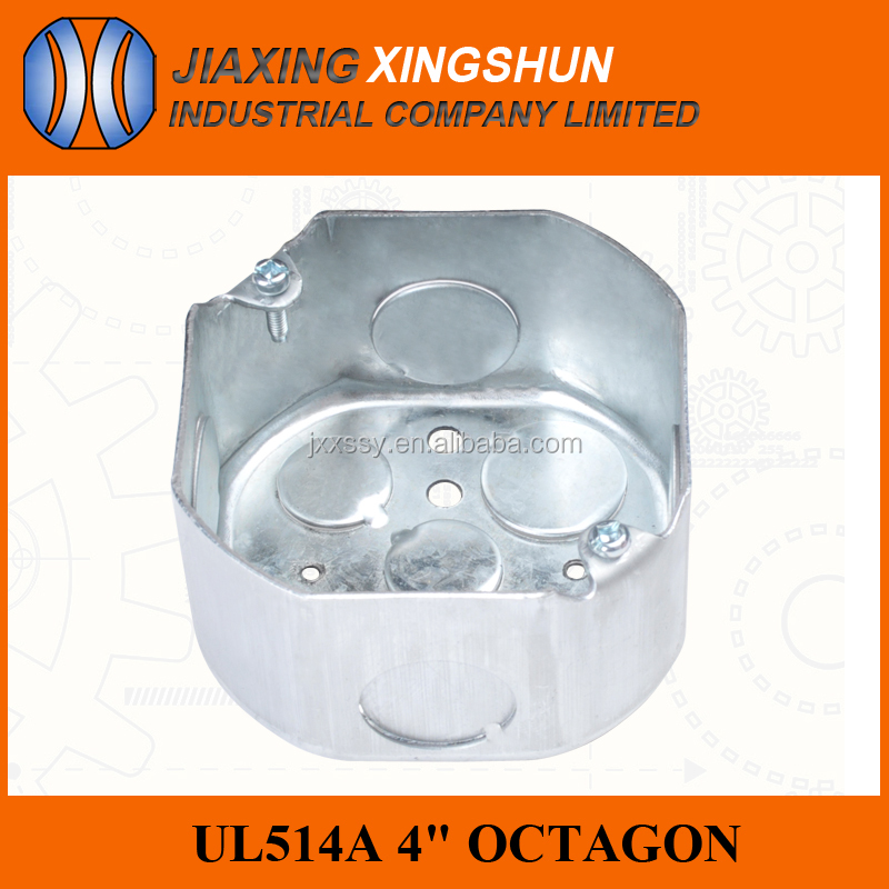 UL514A rectangular stainless steel switch box conduit box