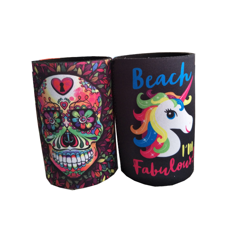 Wholesale Full Color Sublimation Printing 12 OZ Stubby Holder With Based
