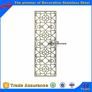 laser cut partition room divider with fine art panels for restaurant