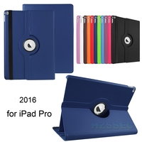 Universal Rotating Folio Case Leather 360 Rotation Stand Case Cover with Multi-angle Stand for Apple iPad Pro 12.9