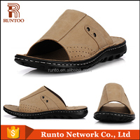 Arabic new stylish men no heel sandals summer fashion men flat sandals 2016 cheap leather sandals and slippers