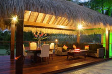 Palapa With Inside Lighting using HDPE weather proof longlife straw leaf rod thatch as roofing