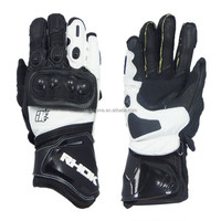 Buy Genuine Goat Leather Sport Gloves Motorcycle Racing Glove in ...